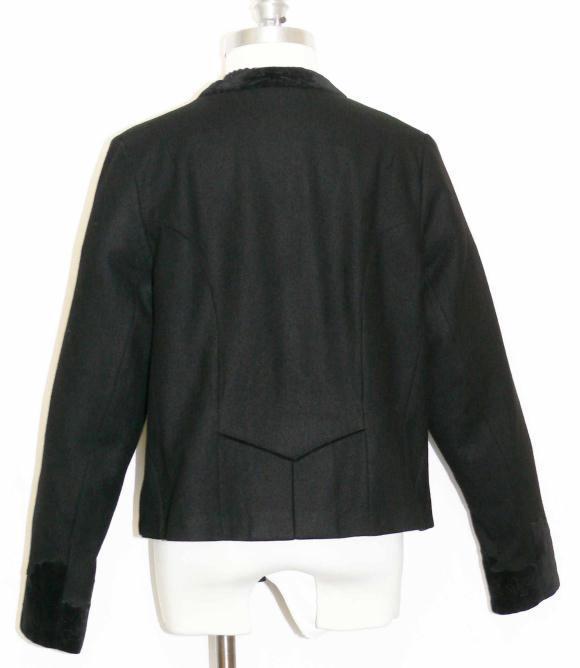 BLACK WOOL Women Austria Dirndl Skirt Dress JACKET 14 L